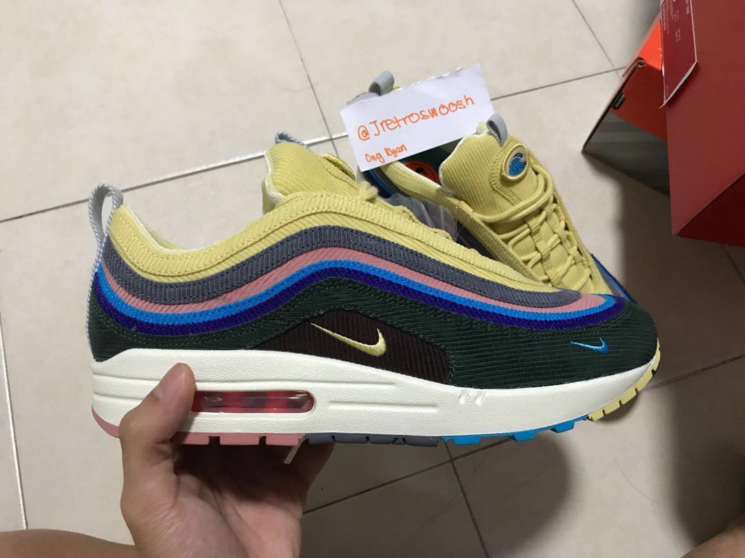 f8799eb58231e3 UK 8.5 US 9.5 Nike x Sean Wotherspoon Air Max 1 97 VF (3 Lace Set ...