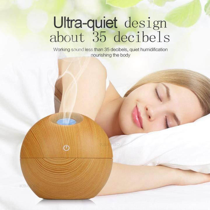 USB Aroma Diffuser Essential Oil with LED Light 130ml (Rolia)
