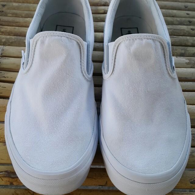 b842a8077f Vans slip on true white