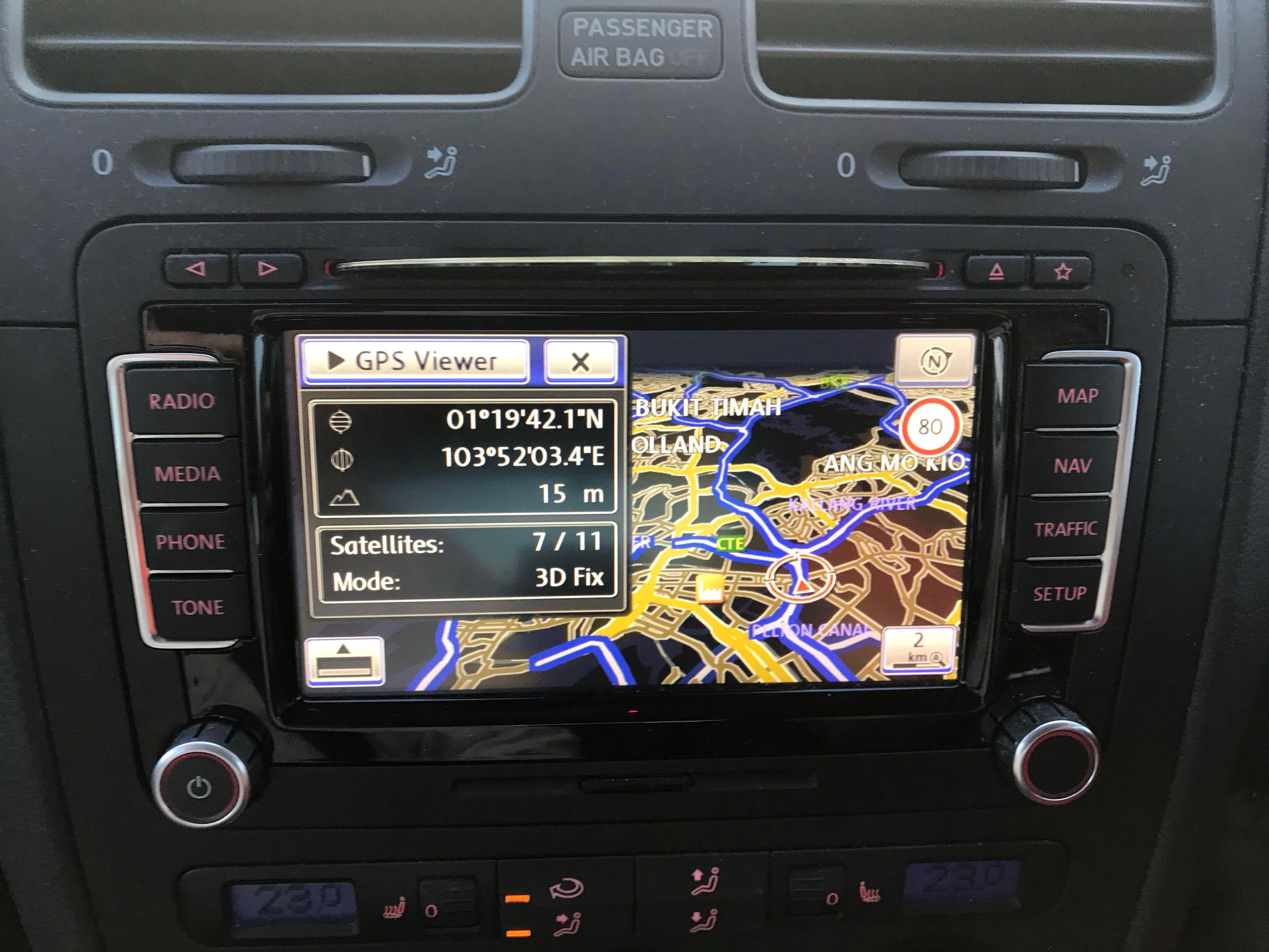 Volkswagen RNS-510 GPS DVD SDcard Entertainment Unit, Car