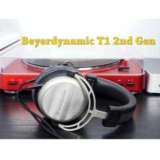 Beyerdynamic T1 2nd Generation Tesla Audiophile Over-Ear Headphones with Dynamic Semi-Open Design