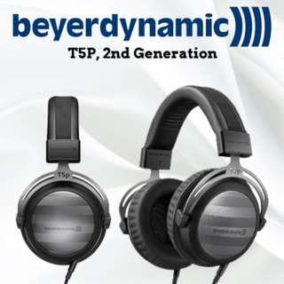 Beyerdynamic T5p 2nd Generation Tesla Audiophile Over-Ear Headphones with Dynamic Closed-Back Design