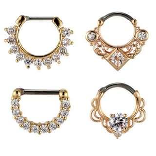 Nose / Earring / Clicker / Designer Hoop / Jewellery