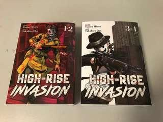 High Rise Invasion English Manga set