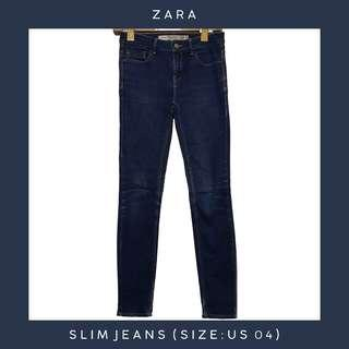 ZARA Slim Denim Jeans / Pants (Size: US 04)