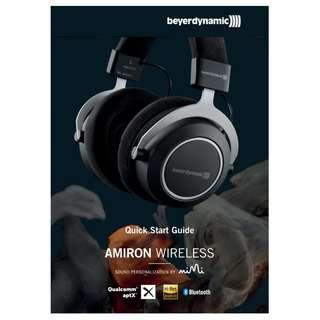 Beyerdynamic Amiron Wireless Over-Ear High-end Tesla Bluetooth Headphones (Close-Back)
