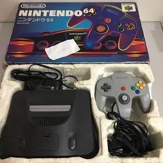 Nintendo N64 Console with Game