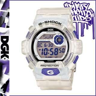 G-SHOCK x DGK G-8900DGK-7DR Translucent White Genuine New