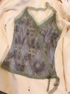 🚚 黃淑琦設計師品牌高端質感紗網蕾絲晚宴禮服上衣