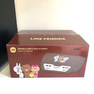 Line Friends Brown Cony多功能窩夫機烘烤機 Waffle Maker BBQ Hot Plate #trickortreat