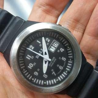 中古Ball watch黑色纖維殼,石英機芯,大日曆,原裝帶,約39mm