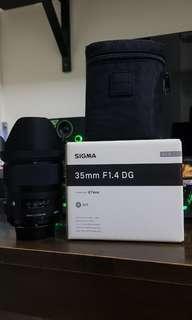 Sigma 35mm F1.4 art Nikon Mount