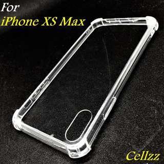 iPhone XS Max Clear Hybrid Bumper Case