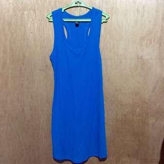 F21 Blue Racer Back Dress