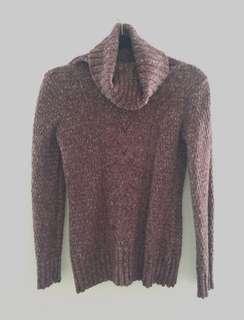 Cotton-wool blend Knit turtleneck sweater (Dynamite- XS)