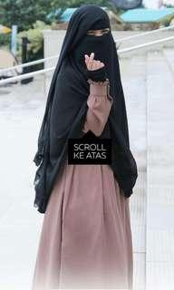 SALE Niqab yaman rempel 3 by anizah khimar #oktosale