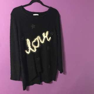 "Miracle ""LOVE"" Black Knit Size Small"