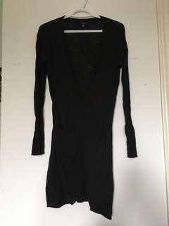 Jacob black long cardigan