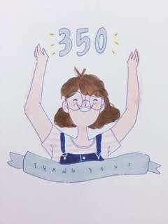 350 Followers