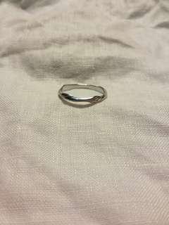 Georg Jensen ring 750 white gold