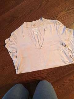 American Eagle choker shirt