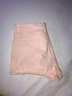 Baby Pink denim shorts