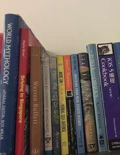Wide ranging Fiction, Nonfiction books