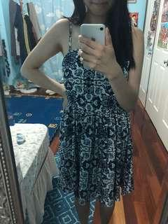 Navy patterned dress