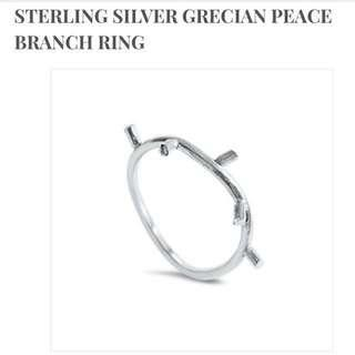Orobelle Sterling Silver Grecian Peace Branch Ring