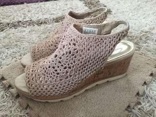 Skechers' crochet sling back wedges