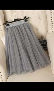 Grey Pleated Skirt Free Postage