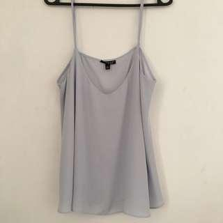 Topshop Blue Flowy Top