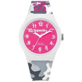 Superdry Watch Pink Camo