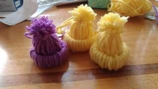 毛帽吊飾(一組有三個)