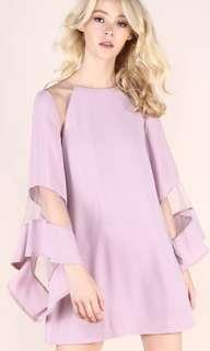 YHF Bad Gurl Mesh Dress Lilac
