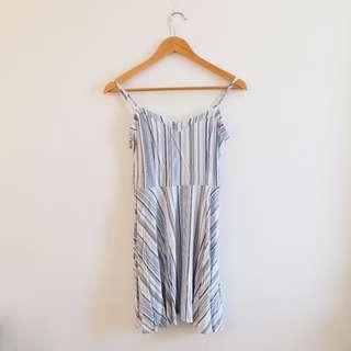 Blue & White Stripes Dress