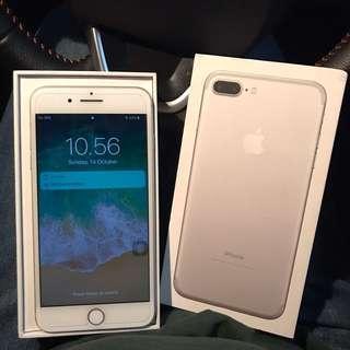 iPhone 7 Plus silver 128gb (rare item)