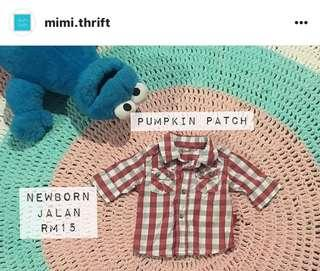 Checkered Shirt (Brand : Pumpkin Patch), Newborn
