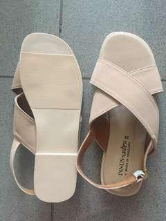 Beige nude sandals from bangkok size 7