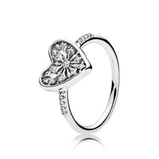 Pandora heart ring . Preloved. Comes.with box and paper bag