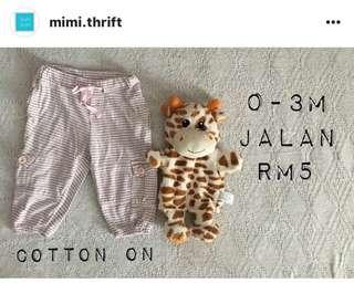 Pants (Brand : Cotton On), 0-3m