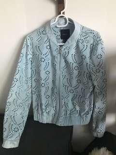 Lace Jacket eyelet supper pretty blue in size s