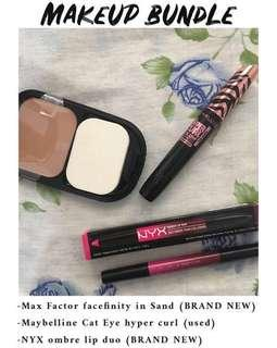 Max Factor, NYX, Maybelline makeup bundle (FREE SHIPPING)