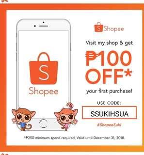 Shopee SUKI code for ya'll closet raiders!