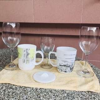 Glass and mug set