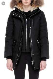 XXS Black Mackage Marla Parka Jacket Coat