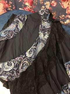 BYSI Paisley& Lace Skirt