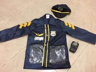 Policeman Costume for School Plays/Halloween/Trick or Treat (Unisex,Boys,Girls)