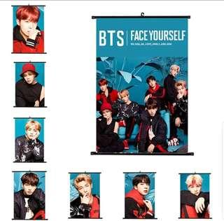 BTS wall scroll decoration