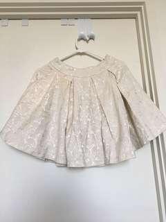 Paper scissors white skirt